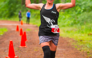Julia Khvasechko running a half marathon